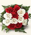 Eryaman İnternetten çiçek siparişi  10 adet kirmizi beyaz güller - anneler günü için ideal seçimdir -