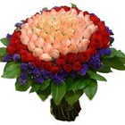 71 adet renkli gül buketi   Ankara Eryaman çiçek yolla