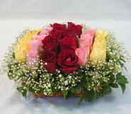 15 adet reprenkli gül sepeti   Eryaman online çiçekçi , çiçek siparişi