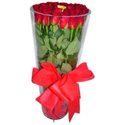 Eryaman ankara  çiçek siparişi sitesi  12 adet kirmizi gül cam yada mika vazo tanzim