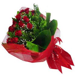 Eryaman ankaraya çiçek internetten çiçek satışı  12 adet kirmizi essiz gül buketi - SEVENE ÖZEL