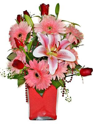 Eryaman çiçek gönder çiçek servisi , çiçekçi adresleri  karisik cam yada mika vazoda mevsim çiçekleri mevsim demeti