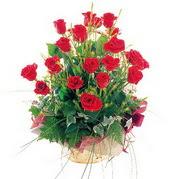 Çiçek yolla Eryaman 14 şubat sevgililer günü çiçek  12 adet kirmizi gülden sepet tanzimi