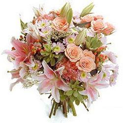 Ankara Eryaman yurtiçi ve yurtdışı çiçek siparişi  Karisik kir çiçeklerinden görsel demet