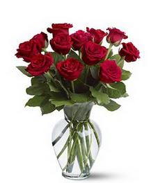 Ankara Eryaman yurtiçi ve yurtdışı çiçek siparişi  cam yada mika vazoda 10 kirmizi gül