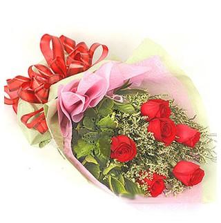 Eryaman İnternetten çiçek siparişi  6 adet kırmızı gülden buket