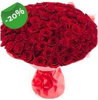 Özel mi Özel buket 101 adet kırmızı gül  Çiçek yolla Eryaman 14 şubat sevgililer günü çiçek