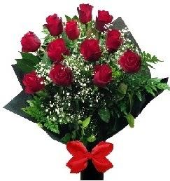 11 adet kırmızı gülden buket  Eryaman çiçek güvenli kaliteli hızlı çiçek