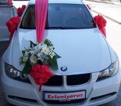 Gelin araba süslemesi  Eryaman çiçekçiler çiçek online çiçek siparişi