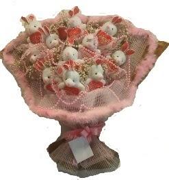 12 adet tavşan buketi  Eryaman çiçekçi ankaraya çiçek yolla çiçekçiler