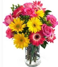 Vazoda Karışık mevsim çiçeği  Ankara Eryaman çiçek satışı çiçek siparişi