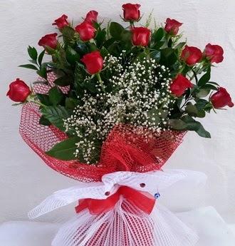 Kız isteme çiçeği buketi 13 adet kırmızı gül  Eryaman çiçek yolla , çiçek gönder , çiçekçi