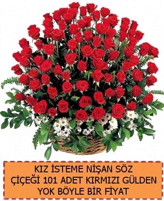 101 Güllü söz nişan kız isteme çiçeği  Eryaman çiçek gönderme sitemiz güvenlidir