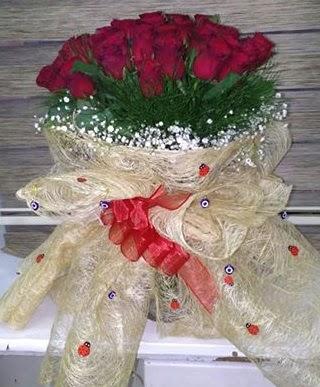41 adet kırmızı gülden kız isteme buketi  Eryaman çiçekçi  çiçek , çiçekçi , çiçekçilik