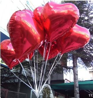 8 adet folyo kalp uçan balon  Ankara Eryaman çiçek yolla