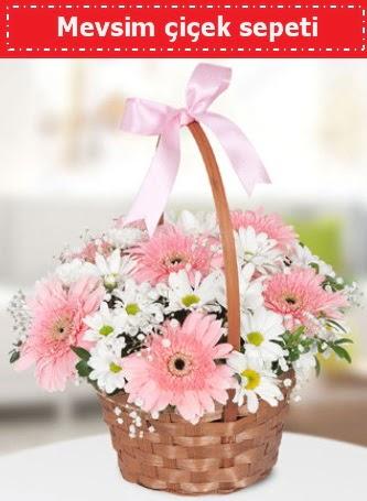 Mevsim kır çiçek sepeti  Eryaman İnternetten çiçek siparişi