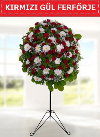 Kırmızı gül ferförje 40 adet gül ve gerbera  Eryaman online çiçekçi , çiçek siparişi