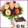 Eryaman Ankara ucuz çiçek gönder  Renkli Güller ve çikolata
